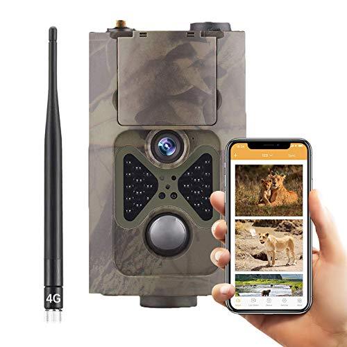 SUNTEKCAM 4G Wildkamera Fotofalle 20MP 1080P HD Jagdkamera Nachtsicht mit HandyüBertragung MMS SMTP FTP Überwachungskamera Bewegungsmelder IP66 Wasserdichter& Staubdicht Nachtsichtkamera