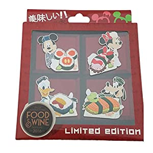 Disney Pin Epcot International Food and Wine Festival 2016 Sushi Pin Set New LE