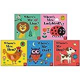 Felt Flaps Series 5 Books Collection Set By Ingela P Arrhenius (Where's Mr Lion ? , Where's Mrs Ladybird?, Where's Mrs Hen?, Where's Mr Owl?, Where's Mr Dog?)