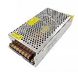 JZK Transformador de controlador de fuente de alimentación LED DC 12V 15A 180W, AC 110V-220V a DC 12V Convertidor de adaptador de fuente de alimentación conmutada para tira de luz LED