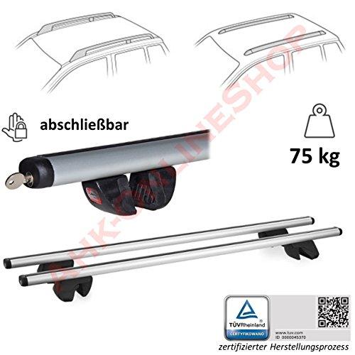 Alu Relingträger universal Dachträger abschließbar Lastenträger Grundträger ALFA - 160cm