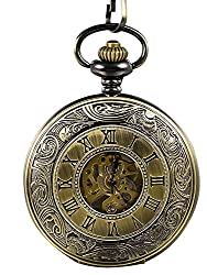 Bronze pocket watch perfect classy traditional 8th anniversary gift idea your husband will love
