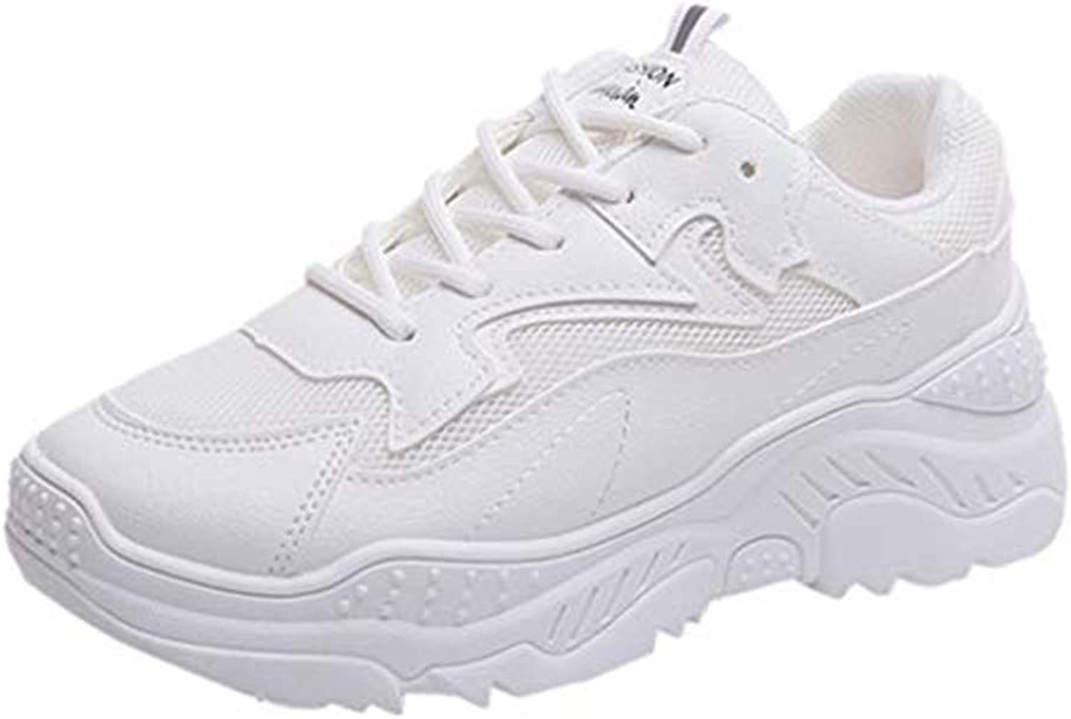 Xinantime Summer Women's White Flat shoes with Thick-Soled Running shoes, Feet, Casual shoes