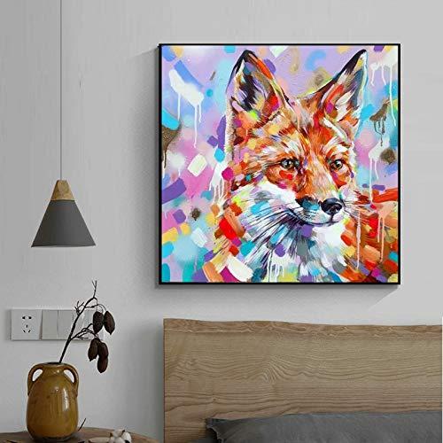 Puzzle 1000 Piezas Animal Art Painting Imagen en Color Fox Mural Puzzle 1000 Piezas educa Gran Ocio vacacional, Juegos interactivos familiares50x75cm(20x30inch)