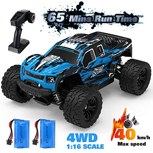 EACHINE RC Off-Road Truck, EC08 1/16 Scale Remote Control Car 40 Km/h 65 Mins Usage Time 4x4 4WD Off-Road Monster Truck Fast Waterproof High-Speed Dual Motor Trucks for Kids and Adults and Boys 8-12