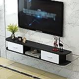 Consola Multimedia Montada,Estante Flotante para Componentes Soporte TV con 2 Cajones, Sala de Estar, Oficina, Dormitorio, Unidad de TV Flotante/B / 130cm