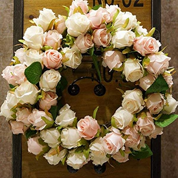 SogYupk Decorative Seasonal Front Door Wreath Handcrafted Wreath For Outdoor Display In Fall Winter Spring And Summer