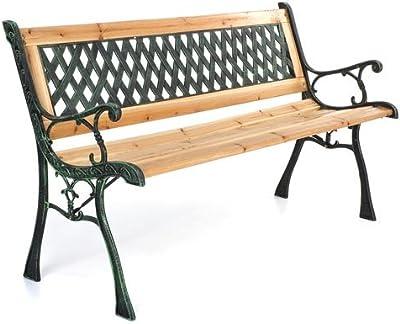 bertozzi Panchina da Giardino 2 Posti in Ghisa E Legno Parco