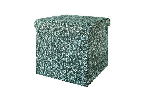 SoBuy® FSS18-K-GB Pouf Dé Pliable, Cube coffre, Tabouret, Boîte de Rangement, panier à linge, Pliable, Couvercle amovible -Gris 38x38x38cm