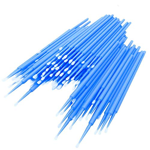 IWILCS 200 Stück Einweg Wattestäbchen, Einweg Microbürsten, Mascara Applikator Micro Brush, Wimpernverlängerung Kleber Removal Lashes Graft Tools für Make-up, Oral und Sauberkeit