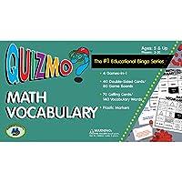 Math Vocabulary Quizmo ゲーム 教育用ビンゴシリーズ