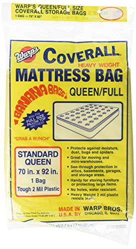 Warp Brothers CB-70 Banana Bags Mattress Bag for Queen or Full, 70-Inch by 92-Inch