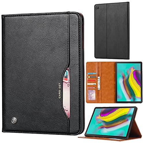 Tablet PC Case Tablet Funda para Samsung Galaxy Tab A10.1 T510 / T515 (2019) Cubierta de soporte plegable con cubierta automática de la tableta de la tableta Tablet contraportada ( Color : Black )