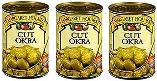 Margaret Holmes Cut Okra (Pack of 3) 14.5 oz Cans