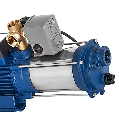 Bomba centrífuga Jasemy 2200 W, 3,0 CV, bomba de agua centrífuga, bomba de jardín con interruptor automático, protección de funcionamiento en seco 2850 rpm
