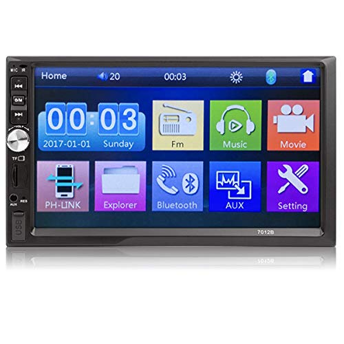 MuChangZi 7 '' 2 Din HD Autoradio MP5 Touch Screen Specchio Collegamento Audio Stereo Bluetooth TF USB FM Autoradio