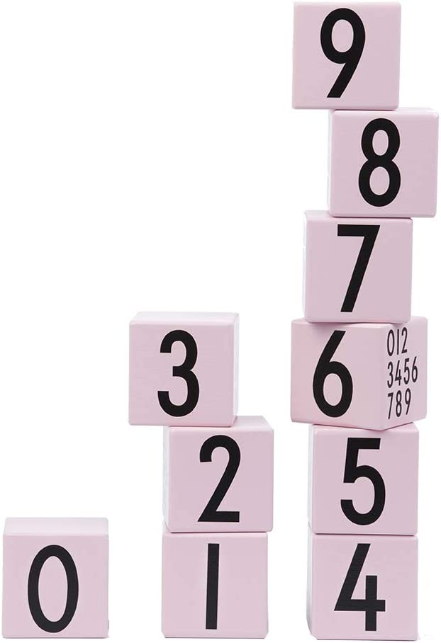 Design Letters 20201600PINK 10 Los Angeles Mall Max 84% OFF Piece Cube Set-Learn to Co Wooden