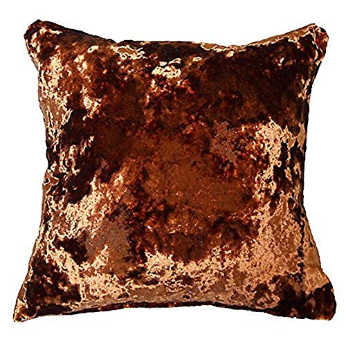 Supplied by Maple Textiles LUXURIOUS THICK VELVET CUSHION COVER BEAUTIFULLY MADE IN THE UK (Copper, 17' x 17' (43 cm x 43 cm))