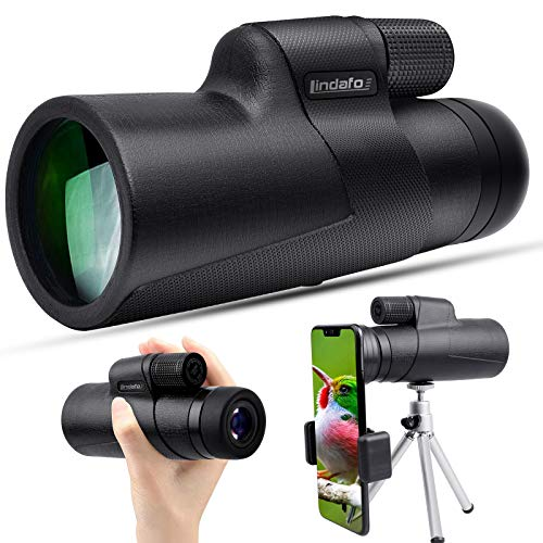 10x50 Monocular Telescope - High Power Monocular - Waterproof HD Scope for Bird Watching Wildlife Traveling Concert Sports Game with Phone Adapter&Tripod