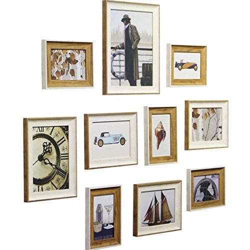 JXXDDQ 10 Stück Holz Bilderrahmen, Collage Fotorahmen Wand, Bilderrahmen für Bild, Porta Retrato Moldura, Vintage Bilderrahmen (Color : A)