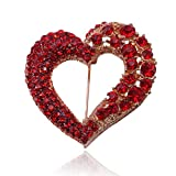 Valentine Love Heart Brooch Pins for Women Fashion