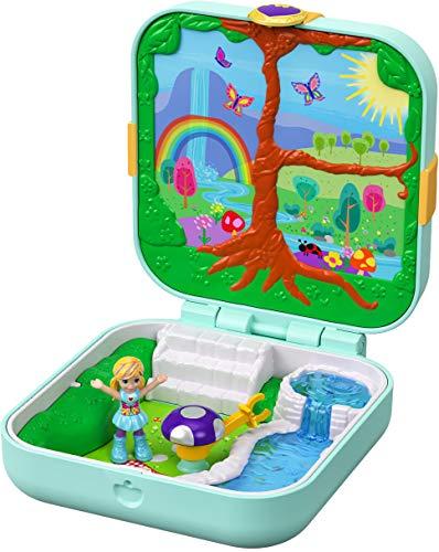 Polly Pocket Cofre Mundo Sorpresa Unicornios, Muñecas con Accesorios (Mattel GDK79) , color/modelo surtido