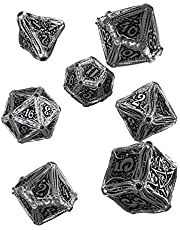 Q Workshop Metal Call of Cthulhu RPG Dice Set 7 Polyhedral Pieces