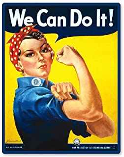 AK Wall Art We Can Do It! Rosie The Riveter WWII Vinyl Sticker - Car Phone Helmet - Select Size