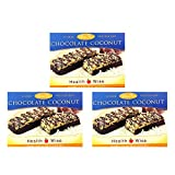 Healthwise - High Protein (15 Grams) Chocolate Coconut Crispy Bars | Gluten Free Diet Snack Bars | Hunger Control and Appetite Suppressant Low Fat, Cholesterol Free, Low Carb, 3 Pack of 21 Bars)
