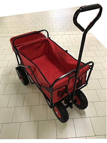 B R E M A Handwagen belastbarer Handwagen, Bollerwagen, Leiterwagen, für zum Bsp. Ostern, Vatertag, Spazieren, Campen, Picknick, Wandern