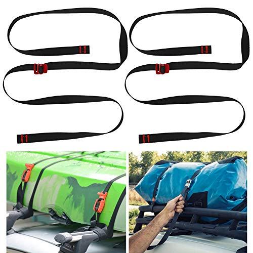 Redxiao Correa de fijación, cinturón de fijación, 2 Piezas Camping para Escalada al Aire Libre(Black)
