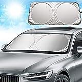 Parasol para Parabrisa Parasol Coche Delantero para Coche Parasoles Cubierta de Parabrisas Plegable contra el Calor y los Rayos UV del Sol para SUV Coche Grande o Pequeño (160 x 85cm)