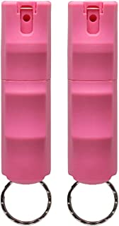 VEXOR Police Strength Pepper Spray, Flip-Top Finger Grip, 20+ Shots, 10-12 Ft. Range - Soft Pink (Two Pack)