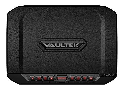 Vaultek Essential Series Quick Access Handgun Safe with Auto Open Lid Pistol Safe Rechargeable Lithium-ion Battery (PRO VE (Full Size Safe))