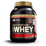Optimum Nutrition Gold Standard Whey Muscle Building and Recovery Protein Powder with Glutamine and Amino Acids, Delicious Strawberry, 77 Servings, 2.27 kg, Packaging May Vary