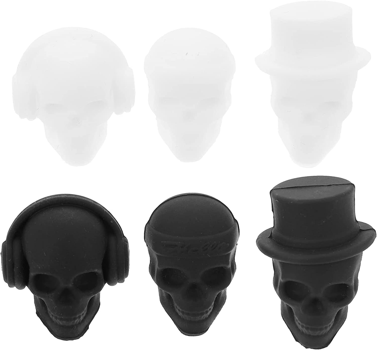 Hemoton 6pcs High quality new Silicone Wine Markers Tags Skull Glass Popular popular Charms