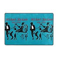 マイケルジャクソンmichael Jackson (1) ベッドルーム ラグ カーペット 低反発滑り止め付 折り畳み 抗菌防臭フロアマット マイクロファイバー 絨毯 手触りが優しい 床保護 子供プレイマット四季通用