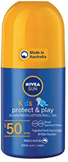NIVEA SUN Kids Moisturising 4 Hour Water Resistant & Fragrance–Free Roll On Sunscreen Lotion. Made in Australia, SPF50+ 65...