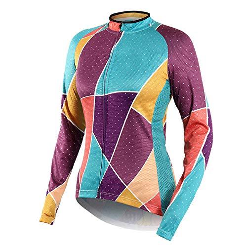 Mujer Camiseta Ciclismo MTB,Ultralight Transpirable MTB Camisa,Verano Maillot Ciclismo Mujer Camiseta Ciclismo Manga Larga,para Deportes y al Aire Libre Ropa Bicicleta(Size:SG,Color:Verde)