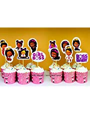 12pcs/lot Boss Baby Cake Topper Birthday Baby Boss theme Party Cake Topper Cake Decoration Baby Shower Party Supplies