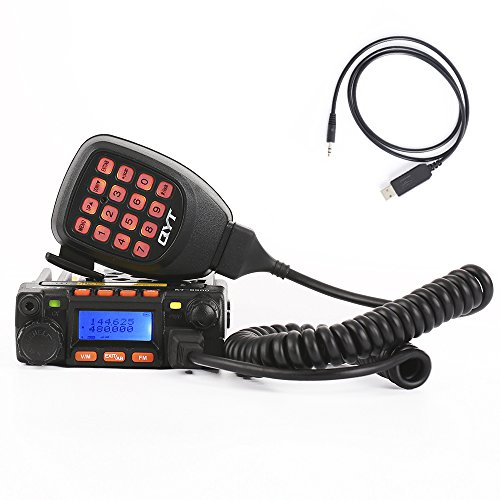 QYT KT-8900 Mini Dual Band Mobile Transceiver 2M 136-174MHz/70cm 400-480MHz 25W Amateur Car Radio (HAM)