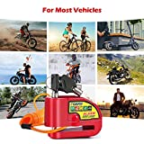 Tchipie Disc Brake Lock Motorcycle Alarm with 110db Alarm Sound, Theft Prevention Security Wheel Disk Lock for 7mm Brake Rotor, Heavy Duty with 5 feet Reminder Cable for Motorcycles Bicycles