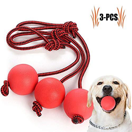 Legendog Bolas para Perros, Pelota de Goma de Goma Elástica Sólida para el Entrenamiento del Animal Doméstico del IQ Que Juega Masticando (Red)