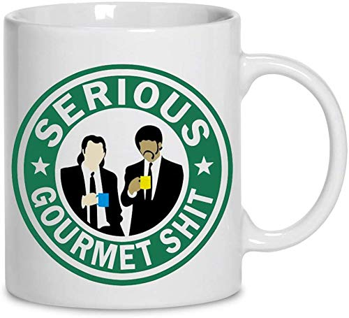 Vincent Vega And Jules Winnfield Serious Gourmet Shit Ceramic Coffee Mug 11oz 15oz Tea Cups MUGREEVA MUG