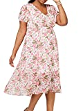 Betsey Johnson Women's Plus Size Midi Dress, Tickle...