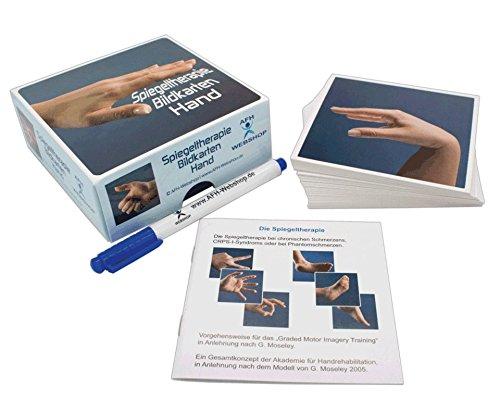 AFH Spiegeltherapie Bildkarten | Flash Cards | 54 Bildern auf robusten plastifizierten Karten | Hand oder Fuss Karten (Hand)