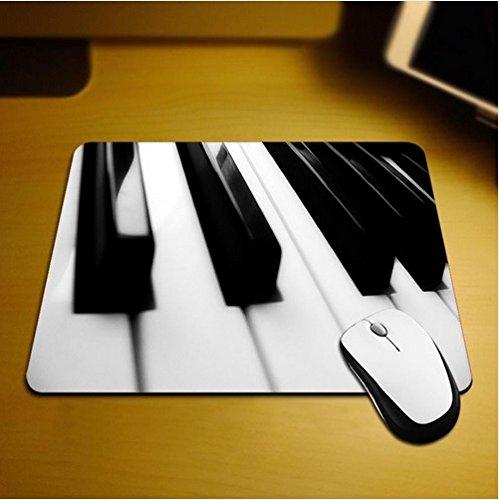 Familienkalender Alfombrilla para ratón con teclas de piano, antideslizante, resistente al agua, 220 x 180 cm, decora tu escritorio con esta elegante alfombrilla para ratón.