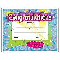 Trend Enterprises Inc. T-2954BN Congratulations/Swirls Colorful Classics Certificates 30 per Pack 6 Packs [並行輸入品]