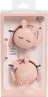 MeterMall Wird Headphone Universal Ear Hool Metal Heavy Bass Cartoon Style Headset Pink