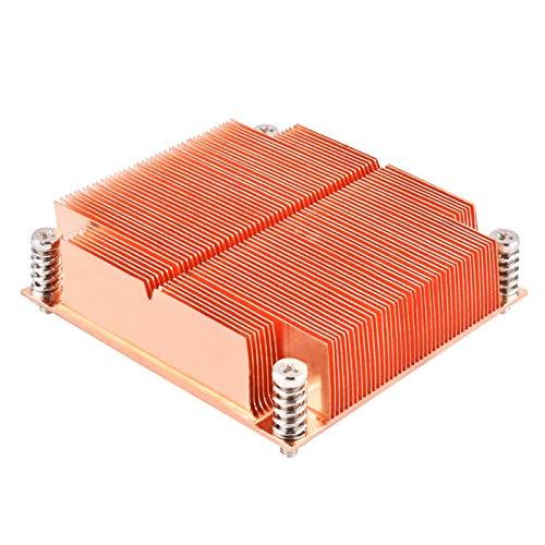 SilverStone SST-XE01-2011 – Disipador pasivo para CPU Xenon, aleta de cobre, base de cobre, 26mm de alto, Intel LGA2011/2066